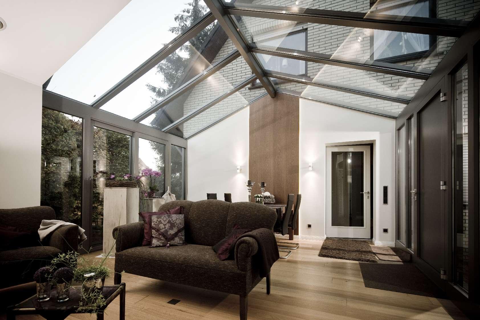 Glasdach Wintergarten Wohnzimmer - Speckemeyer - So funktioniert Wohnen
