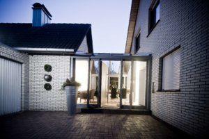 Glasfront Wintergarten