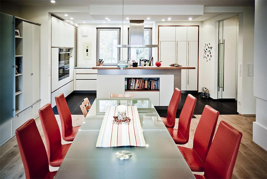Wohnküche mit Kochinsel