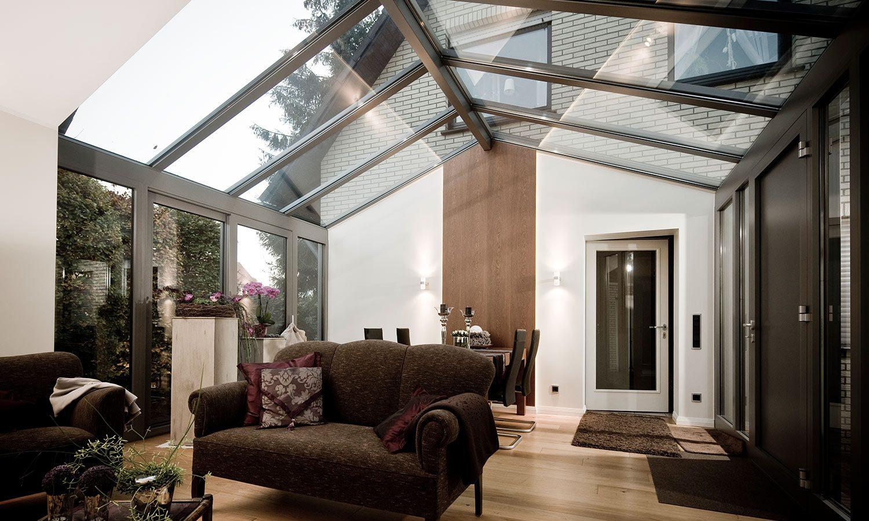 Glasdach Wintergarten Wohnzimmer