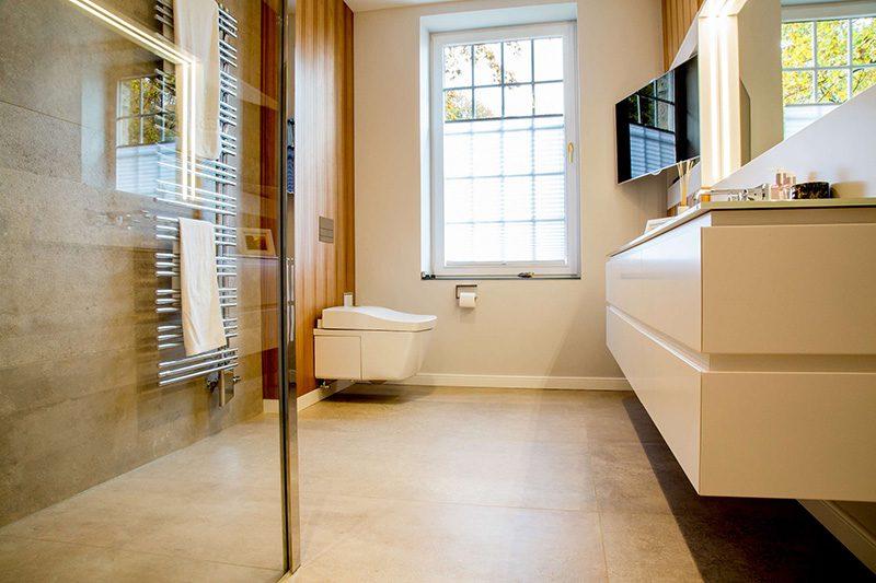 Herrenbad begehbare Dusche